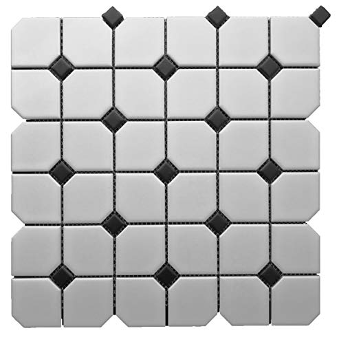 1 Carton/10 SQFT   Black and White 2