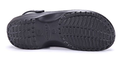 Schuhtempel24 Damen Schuhe Pantoletten Sandalen Sandaletten Flach Cut Out Schwarz