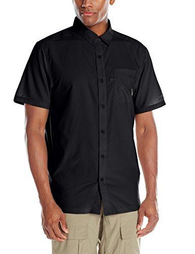 Black Button Down Camp Shirt - Columbia Slack Tide Camp Shirt, Black, X-Large