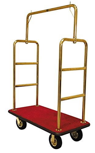 Monarch Carts Gold Plated Hotel Luggage Cart Bellman Cart Trolley service MCL207T