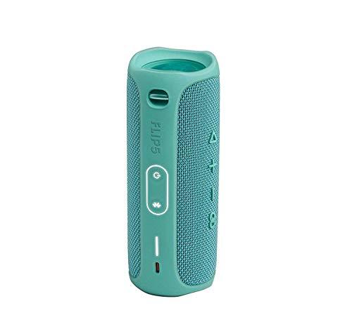 JBL Flip 5 Waterproof Portable Wireless Bluetooth Speaker Bundle with USB 2.0 Bluetooth Adapter - Teal