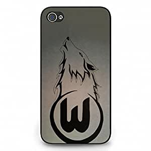 VfL Wolfsburg Logo Case Design AS71EW4 Hrad Plastic Case Cover For Iphone 4