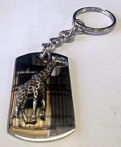 Amazon.com: Jirafa africana animal peltre metal Emblema ...
