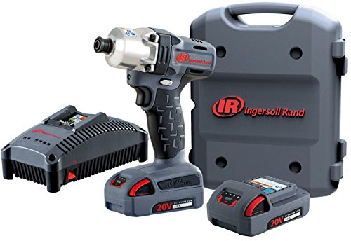 Ingersoll Rand W5110 1 4 20V Quick Change Mid-Torque Hex Drive Impact, W5110-K22 – Impact Tool plus 2-Battery Kit