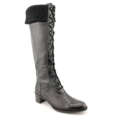 Ellen Tracy Womens Element Black Leather Boots 6 M US