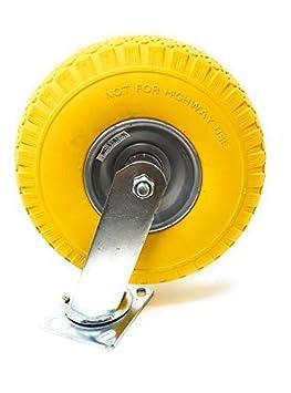 ruedas de goma maciza ruedas de transporte sin pinchazos sin golpes ruedas de poliuretano frenos ruedas giratorias Ruedas fijas giratorias