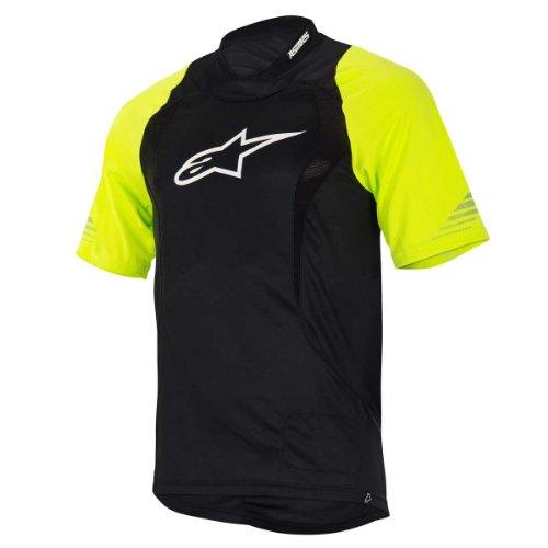 Alpinestars Drop Freeride Enduro Bicycle Jersey, X-Large, Black/Yellow Fluo ()