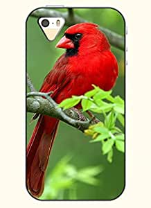 OOFIT Phone Case design with Red Bird for Apple iPhone 4 4s 4g