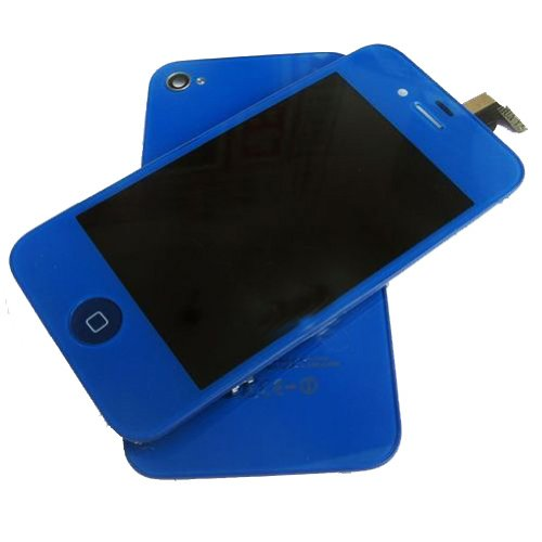 iphone 4 replacement screen blue - 1