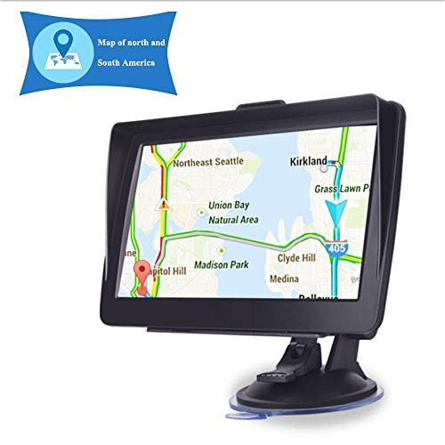 Lesgos GPS Navigation for Car, 7 Inch Touch Screen GPS Navigator System with Lifetime Map Updates Spoken Turn-to-Turn Navigation System for USA, Canada and Mexico, SAT NAV