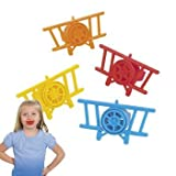 Fun Express Airplane Plane Whizzers Party Favors - 24 Pieces