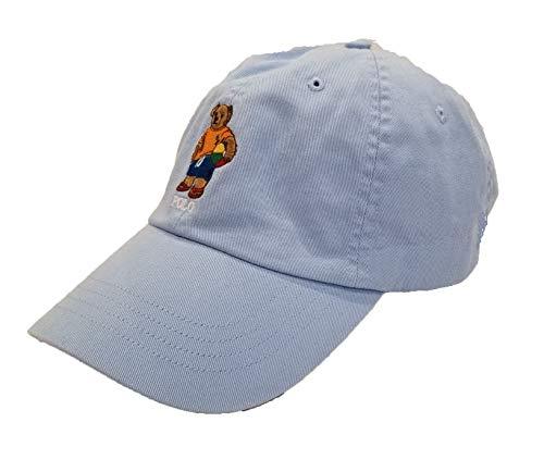 Polo Ralph Lauren Mens Teddy Bear Adjustable Ball Cap Hat (One Size, Light Blue/Sport Bear)