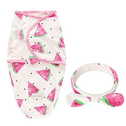 Zohto Newborn Infant Baby Swaddle Blanket Sleeping Swaddle Muslin Wrap Headband Set