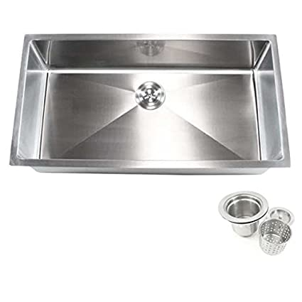 Incroyable Contempo Living Inc 36 Inch Stainless Steel Single Bowl Undermount  15 Millimeter Radius Kitchen