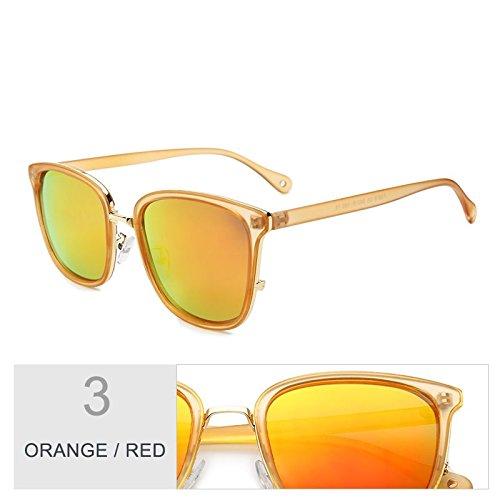 Piazza UV400 Sunglasses popular Gris femenina sol estilo Red TR90 Gris TL Gafas para Orange gafas sol sol de mujeres de Gafas de lentes polarizadas nFpxApW