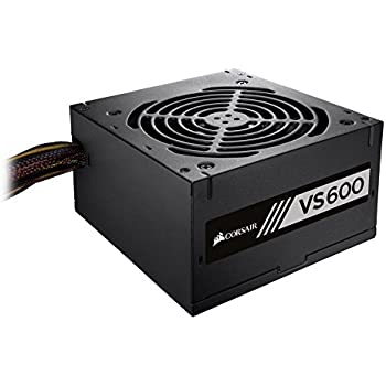 Corsair VS Series, VS600, 600 Watt (600W), Active PFC, 80 PLUS White Certified Power Supply