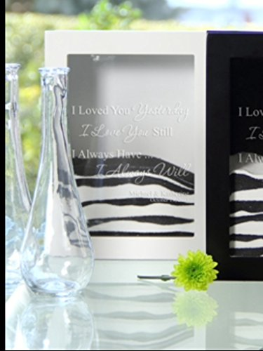 Cathy's Concepts Always Design Sand Ceremony Shadow Box, White Personalized by Cathy's Concepts