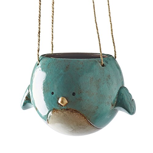 Bird Planter (Bluebird Hanging Planter Pot - Ceramic - 7