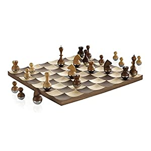 chess set amazon wobble chess set by umbra home amp kitchen 29756