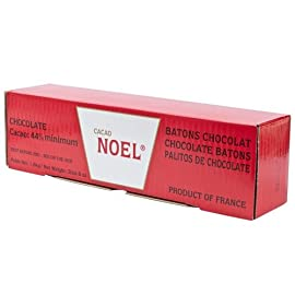 Chocolate Batons - 44% - 1 box - 270 count 8 Product Size: 1 box - 270 count From France, by Noel Click the Gourmet Food World name above to see all of our products. We sell: