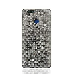 Huawei Honor 8 Pro/Huawei Honor V9 TPU Silicone Case with Old Cube Black Wood Texture