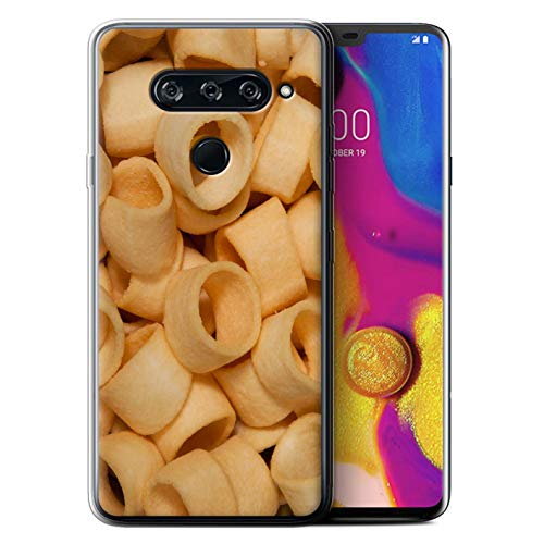eSwish Gel TPU Phone Case/Cover for LG V40 ThinQ/Hula Hoops Design/Snacks Collection ()