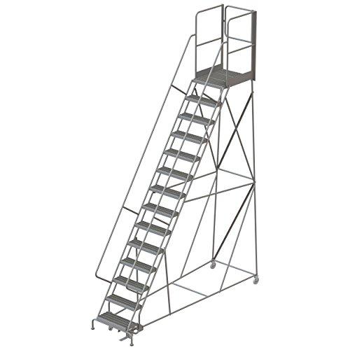 Tri-Arc RWSR114242-XR 14-Step Gateway Rear-Exit Steel Rolling Ladder with 30