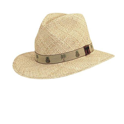 Scala Organic Raffia Safari with Pineapple Trim Hat (L) ()