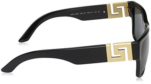 6cafd830724 Amazon.com  Versace Men s VE4296 Sunglasses Black Gray 59mm  Versace   Sports   Outdoors