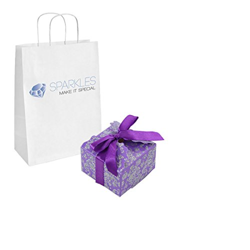 Sparkles Make It Special 200-pcs Medium Ribbon Favor Candy Boxes Wedding Gift Candy Boxes Purple by Sparkles Make It Special