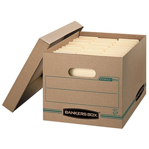 Bankers Box STOR/FILE Storage Boxes, Standard Set-Up, Lift-o