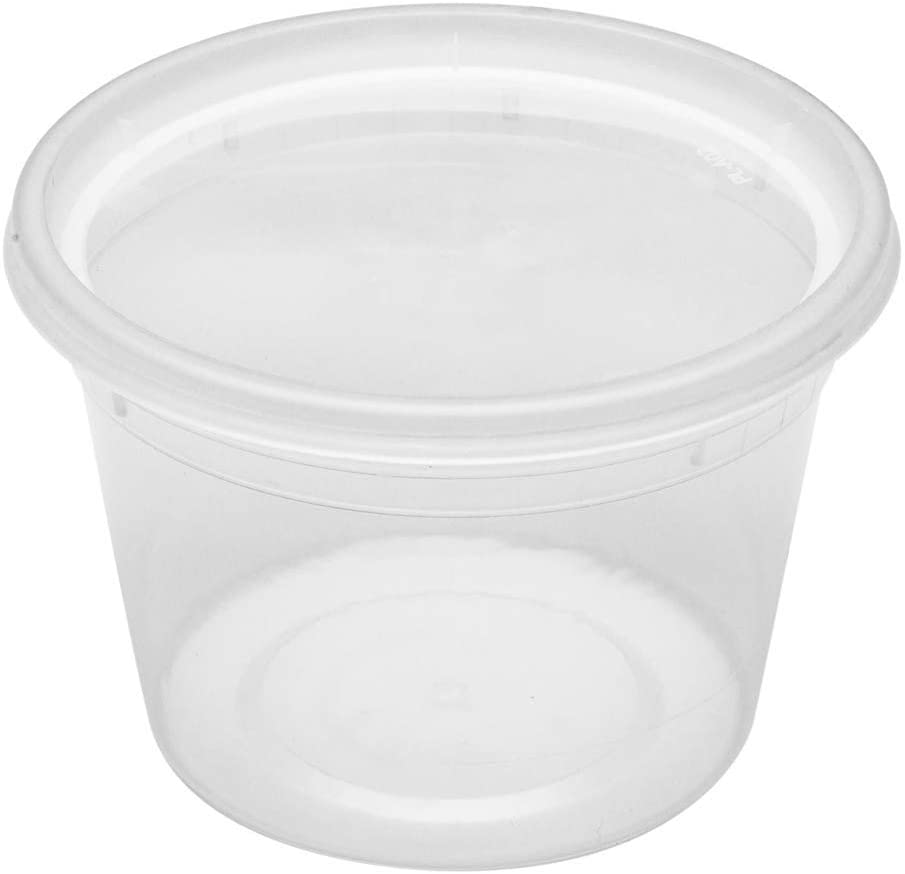 Asporto Microwavable To-Go Container - BPA Free Round Soup Container with Clear Plastic Lid - Catering & Takeout - 16 oz - Clear - Plastic - Disposable - 100ct Box - Restaurantware