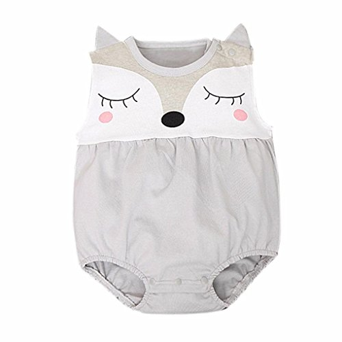 DaySeventh Newborn Baby Girls Boys Teddy Leotard Jumpsuits Romper Bodysuit (6M, Gray) (Baby Daddy Halloween 2017)
