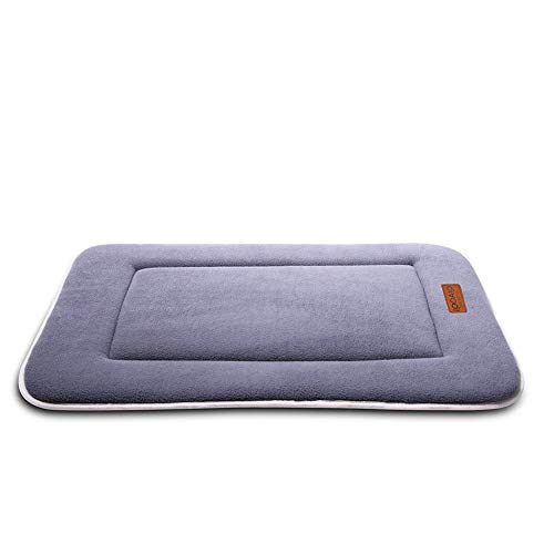 - QIAOQI Dog/Cat Reversible Mattress Pet Fleece Crate Mat Machine Washable Kennel Bed Liner