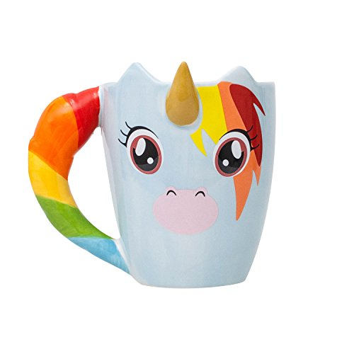 Thumbs Up Unicorn Mug, Multicolor
