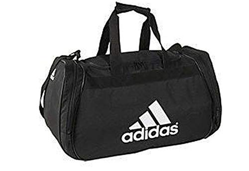 Adidas Diablo Medium II Dufflel Bag (One_Size, Black (5128427-B161) / White) (Adidas Diablo Small Duffel)