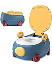 Potty Training Toilet, Grow with me & On The Go, Comfortable Soft Cushion seat,Easy to Clean, Removable Basin