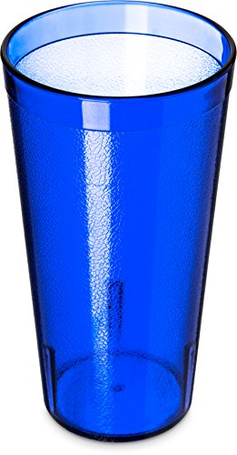 Carlisle 52208147 Stackable ShatterResistant Plastic Tumbler, 20 oz., Royal Blue (Pack of 6) by Carlisle