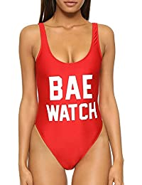 Baywatch-Inspired One Piece Swimsuit with High Cut and Low Back for Women