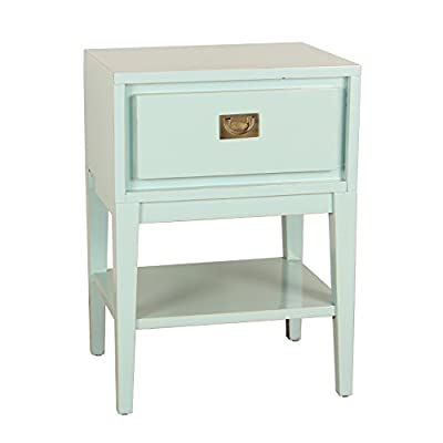 Porthos Home Cranston Nightstand, Aqua - Modern style Top drawer, lower cubby Handsome cranston Nightstand - nightstands, bedroom-furniture, bedroom - 41IdjguPOdL. SS400  -
