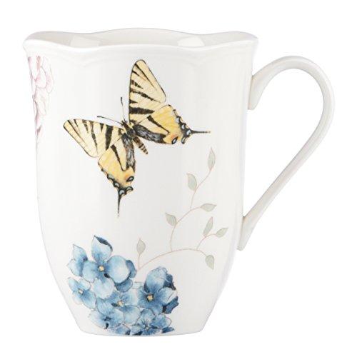 - Lenox Butterfly Meadow Hydrangea Mug, White