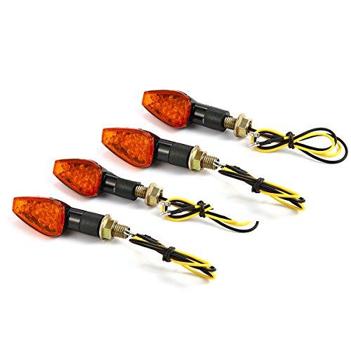 XCSOURCE® 4x Motorcycle Motorbike Turn Signals Indicators Blinker Amber light Black MP004