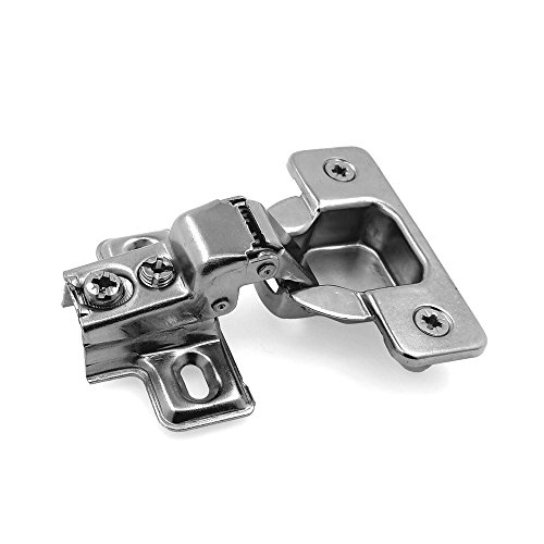 Modket M4315-6-D-20 35mm 105 Degree 3/8 in. Overlay Compact Short Arm Concealed Hinge w/ Dowels for Face Frame Cabinets - 20 Pack (10 Pairs)