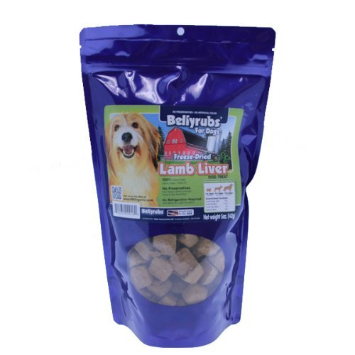 Bellyrubs All Natural Made In The USA Freeze-Dried Lamb Liver (5 oz)