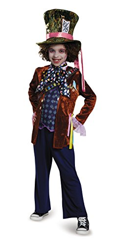 Mad Hatter Deluxe Alice Through The Looking Glass Movie Disney Costume, (Unique Costumes Kids)