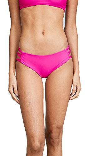 Pink Swimsuit Bottoms (MIKOH Women's Barcelona Bikini Bottoms, Pop Pink, Large)