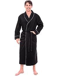 Del Rossa Men's Cotton Robe, Lightweight Woven Bathrobe