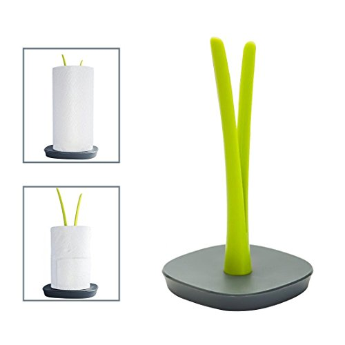 Standing Paper Towel Holder Countertop or Toilet Paper Holder with Weighted Base - Modern Simplicity Design - SILIVN ()