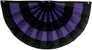 "product image for Funeral decorations by Independence Bunting - American Made Nylon Funeral Bunting! (Nylon - Black/Purple/Black/Purple/Black, 36"" x 72"")"