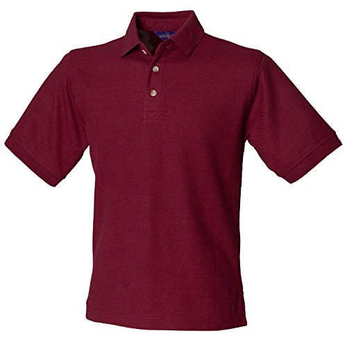 Henbury Ultimative Heavy Pique Polo Shirt H410 Burgund XXL